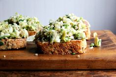 Smoked Trout and Avocado Salad Toasts recipe on Food52