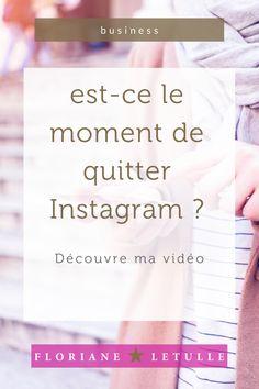 Tu utilises Instagram pour ton business ? est-ce le moment de quitter l'application ? Je partage mon point de vue dans ma vidéo #reseausociaux #business #insta Quitter, Questions, Moment, Boarding Pass, Business, Self Confidence, Store