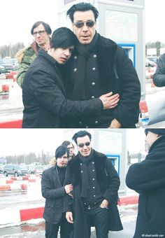 Till Lindemann - Till looks suprised! Cos that dude is all over him I guess :)