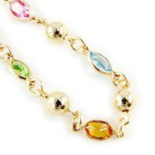 """Gold plated bracelet """"Gouttes De Fées"""" tutti frutti. from Les Trésors De Lily at the Giftopia Shop Tutti Frutti, Great Gifts, Wedding Day, Beaded Bracelets, Bling, Weddings, Hot, Jewelry, Gout"""