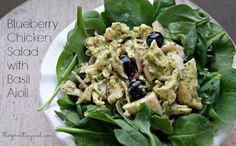 Blueberry Chicken Salad with Basil Aioli gluten-free, grain-free, dairy-free