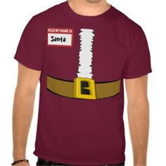Name Tag Santa Suit Belly Top Customize Me! :)  http://www.zazzle.com/name_tag_santa_suit_belly_top_customize_me_tshirt-235521421800144126?rf=238020180027550641