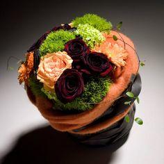 Rose, orange et dianthus