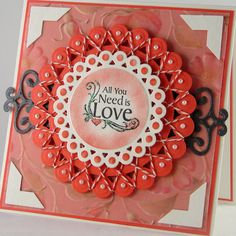 Handmade Valentine Card All you need is love by TheresaCalderini, $5.50
