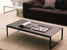 Tavolino in cristallo da salotto HIPHOP | Tavolino rettangolare Collezione Tavolini by Bontempi Casa | design Studio 28