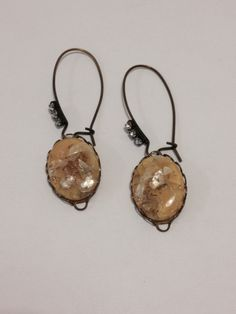 Vintage Buttercup Yellow Earrings on Elongated Rhinestone Ear Wires