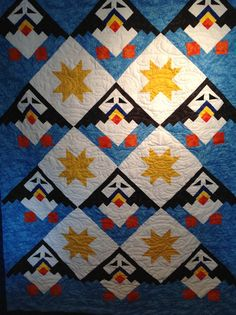 Puffins Aloft Quilt Pattern by TheBattyQuilter on Etsy, $10.00