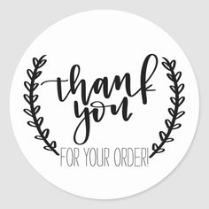 Shop Thank you for your order stickers created by joybyjess. Thank You Customers, Thank You For Order, Body Shop At Home, The Body Shop, Thank You Stickers, Thank You Cards, Custom Stickers, Bumper Stickers, Logo Online Shop