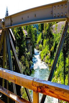 Trussed bridges leading to the village of Slunj near Plitvice Lakes inland Croatia