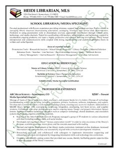 example school librarian resume free sample library thing
