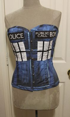 If you can't own a TARDIS why not do the next be thing - BE ONE!  Victorian Overbust Tardis Police Box by TracyMichelleCouture, $275.00