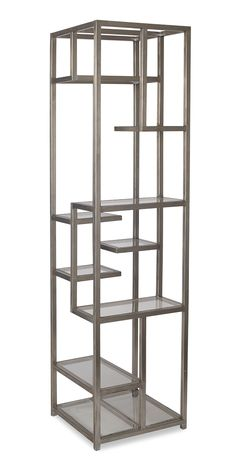 Shelf, textured stainless steel and translucent fiber