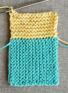 Whit's Knits: Log CabinWashcloths - The Purl Bee - Knitting Crochet Sewing Embroidery Crafts Patterns and Ideas!