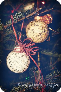 Everything Under the Moon: 12 Days of Christmas - Snow Glitter Ornaments