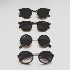 Circular sunglasses are very trendy right now. If you're hipster and the sun's out, you better be wearing one of these! It'll top off any hipster summer outfit.