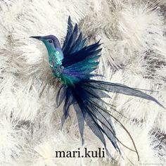"""брошь птица """"изумрудная"""" – купить в интернет-магазине на Ярмарке Мастеров с доставкой"""