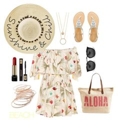 """""""From To The Beach!"""" by shemilys2-1 on Polyvore featuring moda, Rip Curl, Fendi, Betsey Johnson, Red Camel, Kate Spade, Lancôme, Yves Saint Laurent y Prada"""