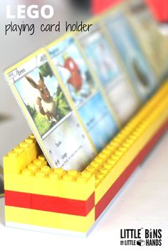 LEGO Playing Card Holders for Kids Card Games is part of Kids Crafts Cards Plays Do you have young kids who are learning how to hold a handful of cards for kid& card games Then you need to make si - Card Games For Kids, Lego For Kids, Kids Cards, Diy For Kids, Crafts For Kids, Lego Duplo, Legos, Deco Lego, Deco Gamer