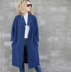 Brooklyn CoatPattern–This oversized, boxy coat featuresdropped shoulders and a fol...