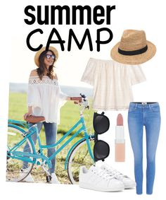 """Summer camp"" by netra-s ❤ liked on Polyvore featuring H&M, Paige Denim, adidas, Yves Saint Laurent, Gottex, Rimmel, summercamp and 60secondstyle"