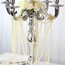Новое поступление в наличии! 10 м 8 мм перл бисера гирлянда пряди для свадебного украшения стола центральные люстра(China (Mainland))