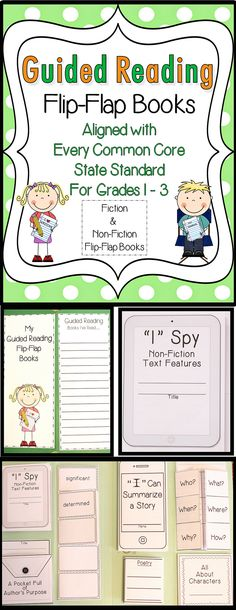 Do you want to FRESHEN UP your Guided Reading Group Lessons??  This unit will do the trick!  Guided Reading Flip-Flap Books aligned to the CCSS for Grades 1-3.  Check it out...and download the preview for a closer look!! $