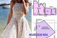 32 Ideas For Sewing Diy Simple Dress Patterns Fashion Sewing, Diy Fashion, Ideias Fashion, Dress Fashion, Fashion Tips, Dress Sewing Patterns, Clothing Patterns, Diy Dress, Dress Outfits