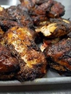 When it comes to Caribbean food I don't think you can beat a nice, hot juicy chicken covered in it's dark, spicy, sticky and sweet jerk seasoning.