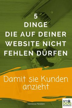Was auf deiner Website absolut nicht fehlen darf