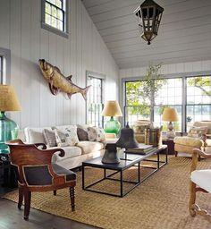 Inviting Cottage Living Room | photo Eric Piasecki | design Steven Gambrel | House & Home