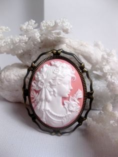 Beautiful pink cameo