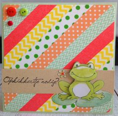 Opkikkertjes Washi Tape Cards, Masking Tape, Washi Tapes, Tapas, Pinterest Cards, Marianne Design, Kids Cards, I Card, Cardmaking