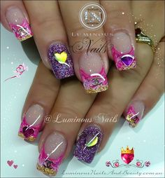 VERY PRETTY..this nail art design is adorable | nail art | unas | ongles