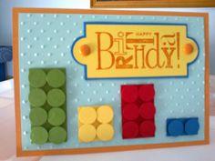 lego  birthday card Lego Birthday Cards, Kids Birthday Cards, 9th Birthday, Fun Cards, Kids Cards, Card Ideas, Diy Ideas, Money Envelopes, Paper Crafts