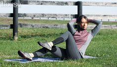 Core Strengthening Exercises for Equestrians: Developing a strong core is key to becoming a stronger rider.