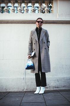 On the street at London Fashion Week. Photo: Imaxtree.