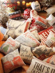 Home Decor - Christmas Pillows.