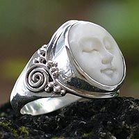 Cow bone ring  https://www.thehungersite.com/store/ths/item/37145/cow-bone-ring-face-of-the-moon?0