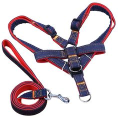 "Ultra Dog Leash | 2pcs Comfortable Dog Walking Leash Harness Set Size M with 47.2"" Rope 