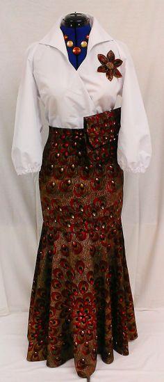 African Print Ankara Fishtail Skirt by Louvoshine on Etsy, £48.00