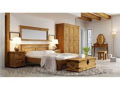 Rustikální ložnice ve světlé barvě