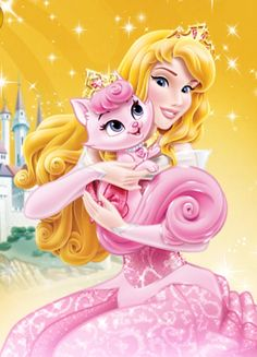 Aurora and pet cat, Beauty Princesa Disney Aurora, Disney Princess Aurora, All Disney Princesses, Disney Characters, Princess Palace Pets, Disney Images, Disney Junior, Mickey And Friends, Ladybug