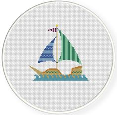 FREE for March 21st Only - Pirate Ship Cross Stitch Pattern