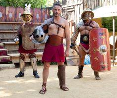 Vincenzo Venuto sul set di Gladiators