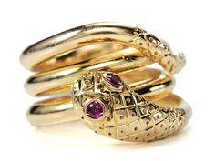 The Myth of the Ruby Eyed Golden Snake Estate Ring.
