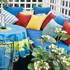 39 Budget-Wise Ways to Create Outdoor Rooms Outdoor Cushions, Outdoor Lounge, Outdoor Rooms, Outdoor Living, Outdoor Furniture Sets, Outdoor Decor, Porch Flooring, Dining Table Chairs, Dining Area