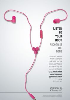 Listen to your body. Cancer. Ads.