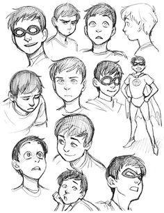 Robin sketches.