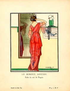 Jeanne Paquin - Robe du soir - Gazette du Bon Ton - 1913
