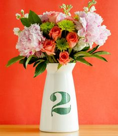32 Awesome DIY Wedding Table Numbers | HappyWedd.com